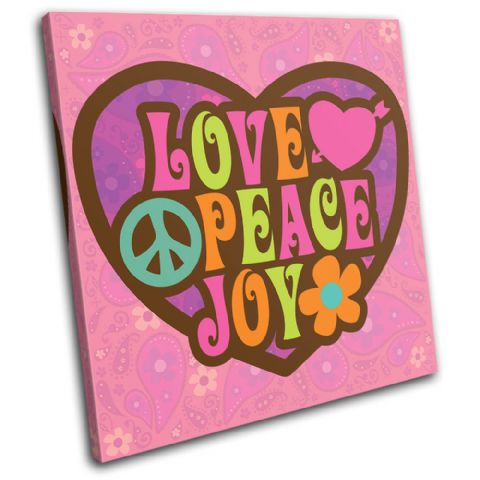Love Peace Pink Typography - 13-0070(00B)-SG11-LO
